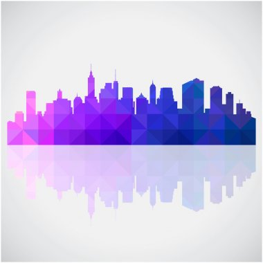 Abstract Colorful panorama city background