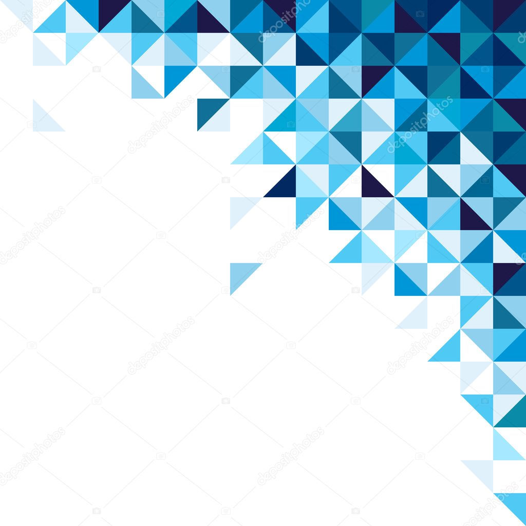 Abstract, geometric background, triangle and square, blue