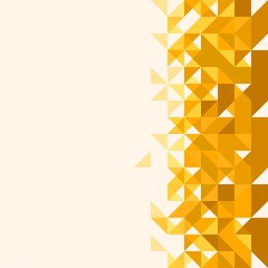 Geometric backgrounds. Yellow