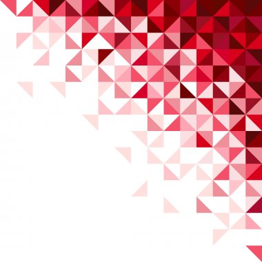 Geometric background, red