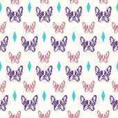 Photo French bulldog seamless pattern