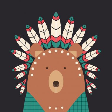 Indian bear with feathers