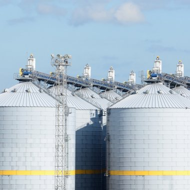 cereal elevator tank at the port of Ventspils