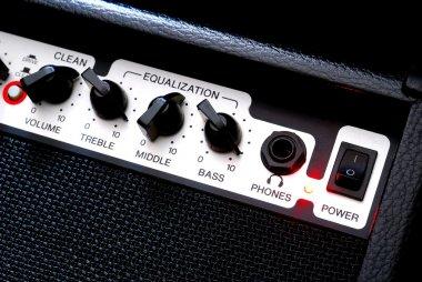 Guitar music amplifier close-up stock vector