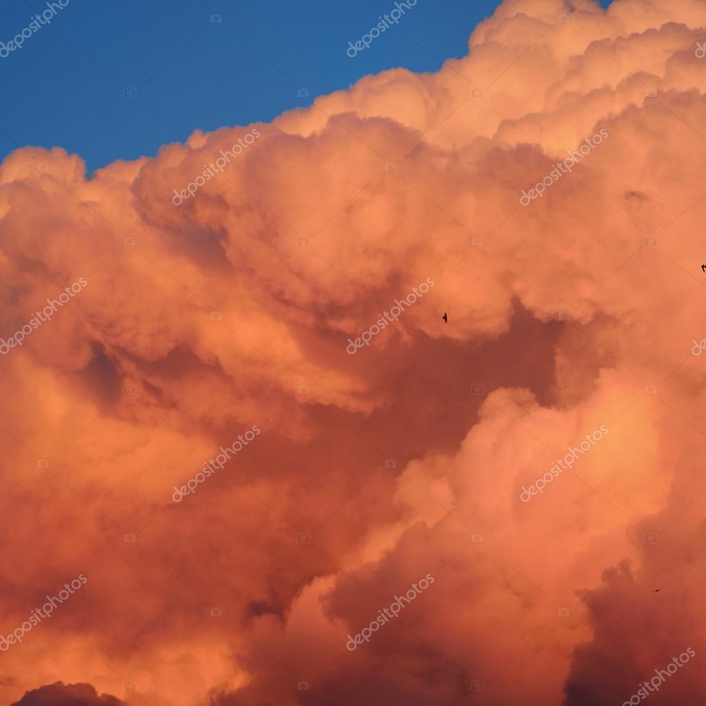 Sunset cloudscape.