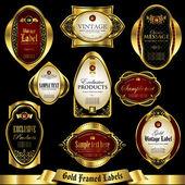 Fotografie Gold gerahmte Etiketten Set 2