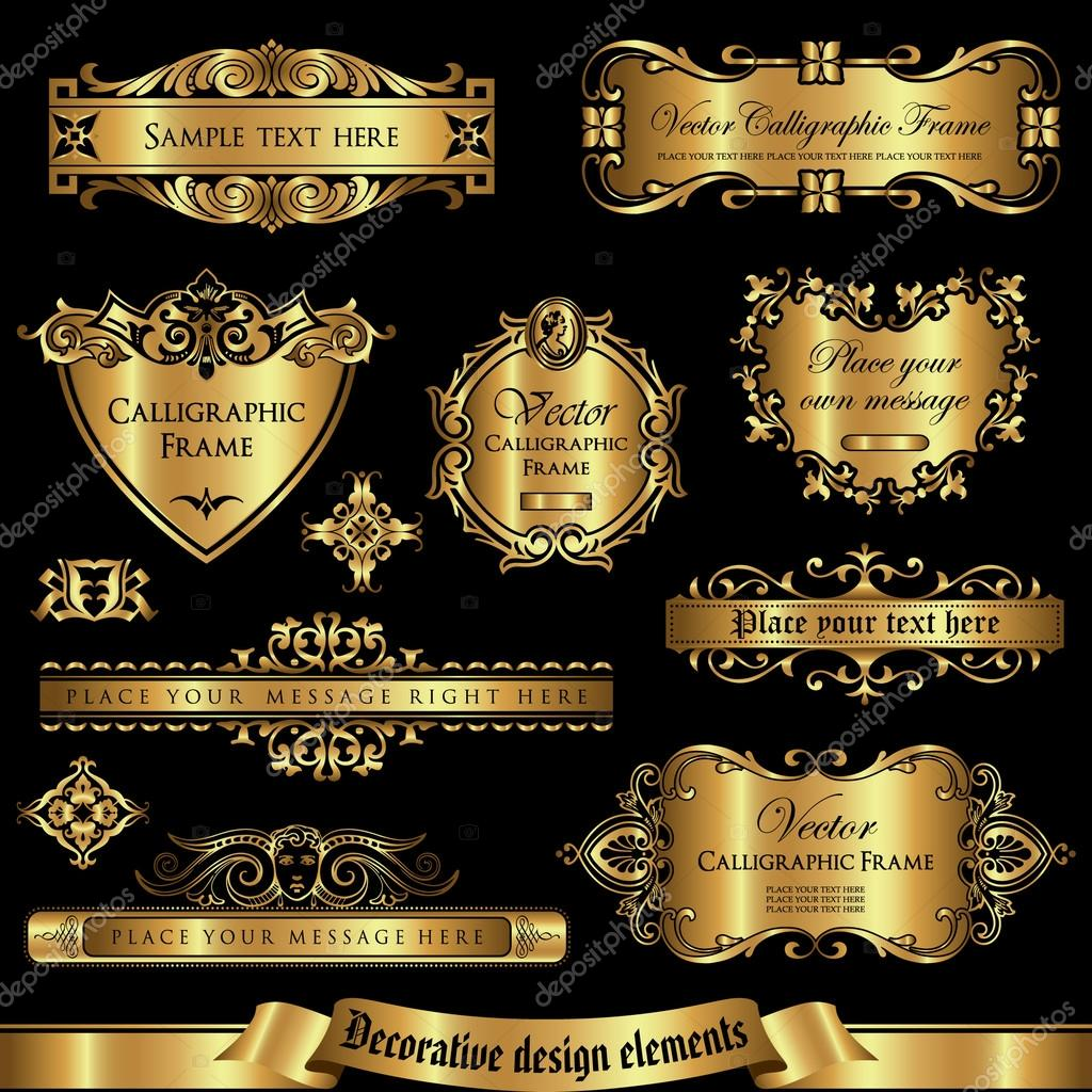 Decorative design elements set 2