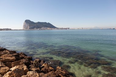 Height of the Rock of Gibraltar about 425 meters
