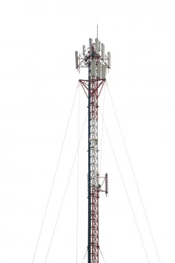 telecommunications tower with different antenna isolated