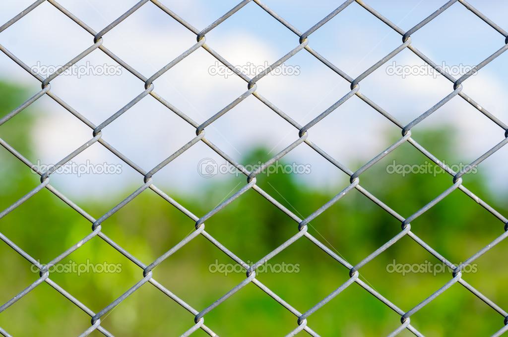 valla de alambre de malla metlica Foto de stock seksan44 48161027