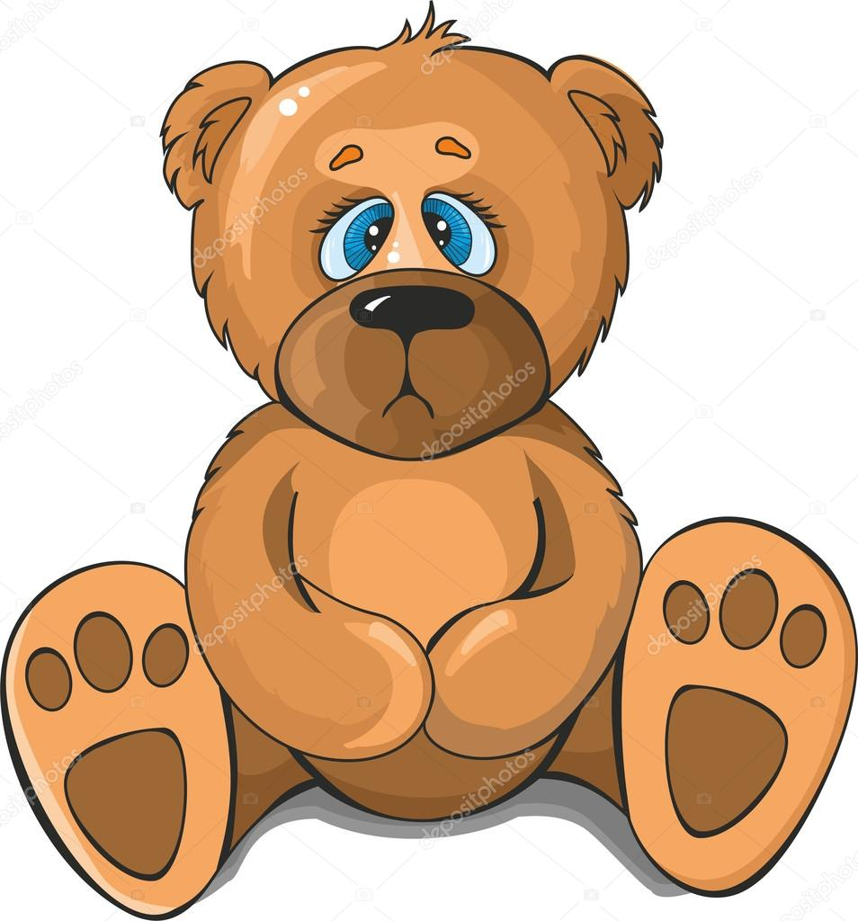 Днем, грустный мишка картинки для детей