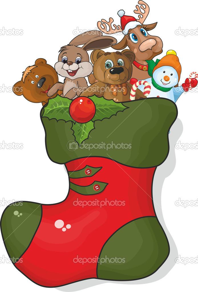 Imágenes Bota De Navidad Bota De Navidad Con Regalos Vector De