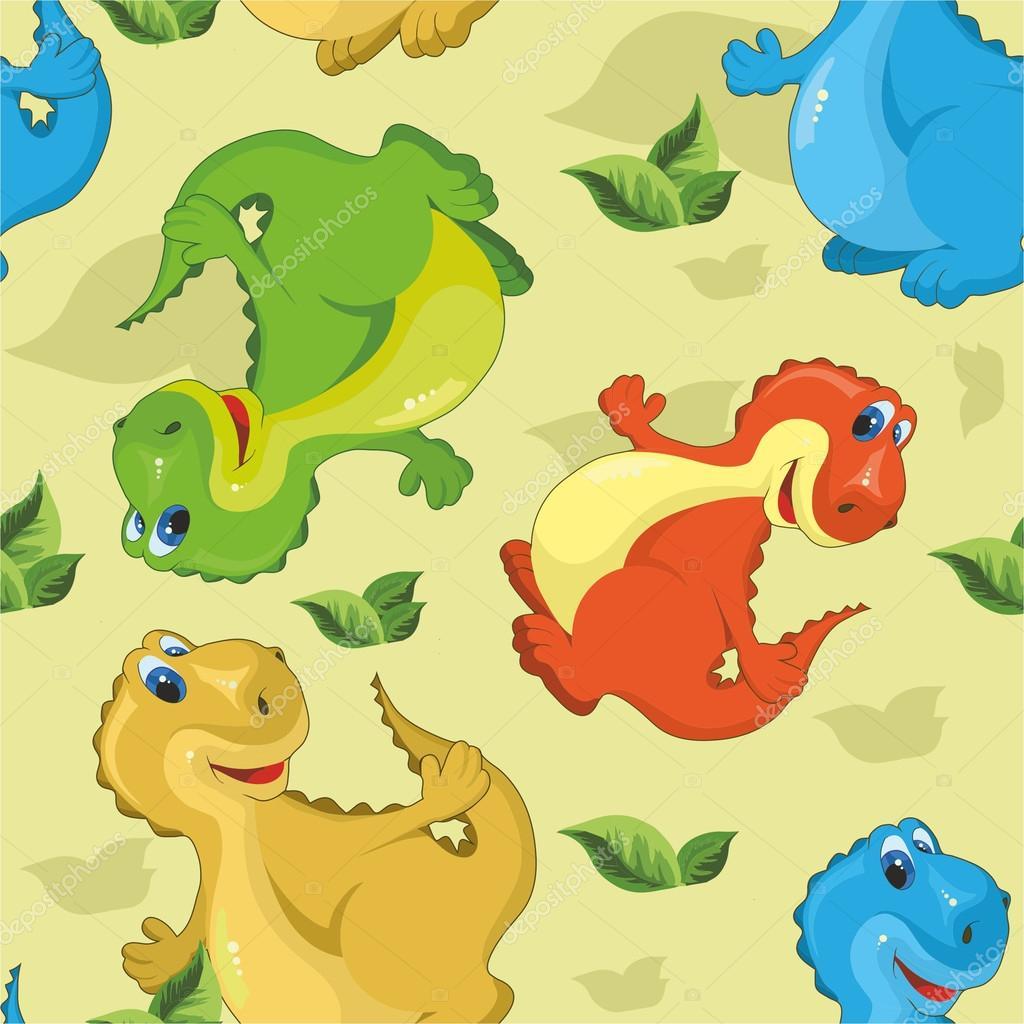 Tono Sin Costuras Con Dinosaurios Lindos De Dibujos Animados Vector De Stock C Son 48649499 Entre este tipo de dinosaurio podemos encontrar por ejemplo a los conocidos. https sp depositphotos com 48649499 stock illustration pattern with dinosaurs html
