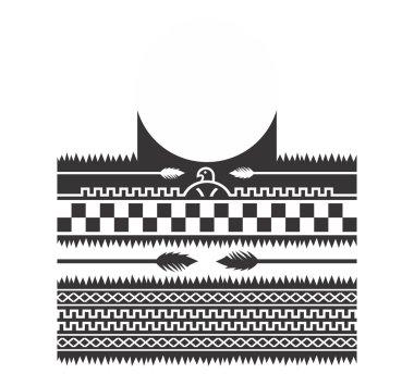 Native american pattern art tattoo theme