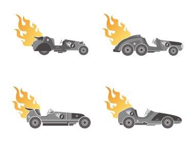 Retro car art theme