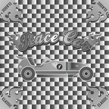 Retro race car vintage