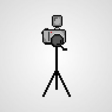 Pixel art photo camera