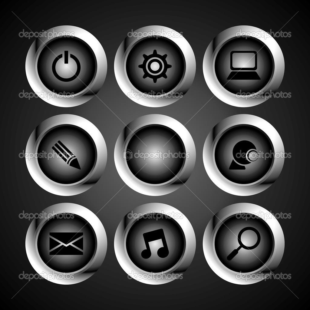 Computer Desktop Icon Stock Vector Vectorfirst 45213603