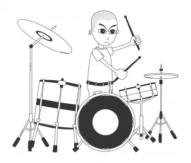 Drummer art cartoon