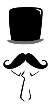 Vintage mustache