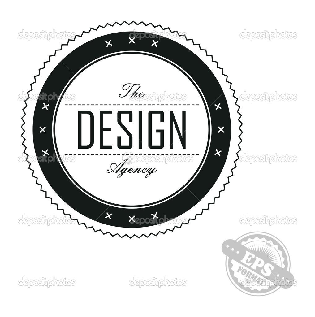 Retro ribbon badge design — Stock Vector © vectorfirst #45607753