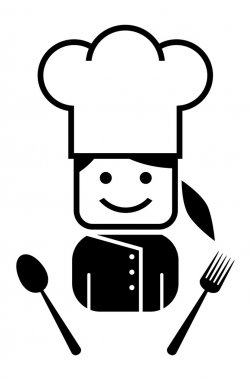 Young girl chef
