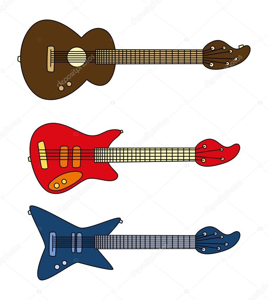 Gitar Karikatür Stok Vektör Vectorfirst 45610299