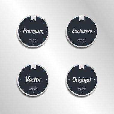 Quality retro label sticker set