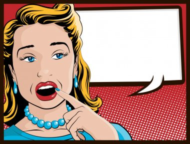 Comic Style Shocked and Surprised Housewife stock vector