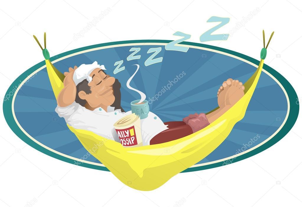 Homme De Dormir En Hamac Image Vectorielle Jorgenmac 33147425