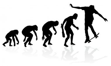 Evolution of a Skateboarder