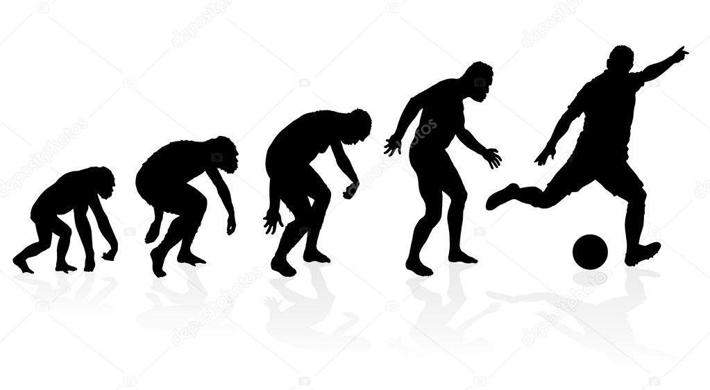 evolução de um jogador de futebol — Vetores de Stock © jorgenmac ... f9facd60a35ad