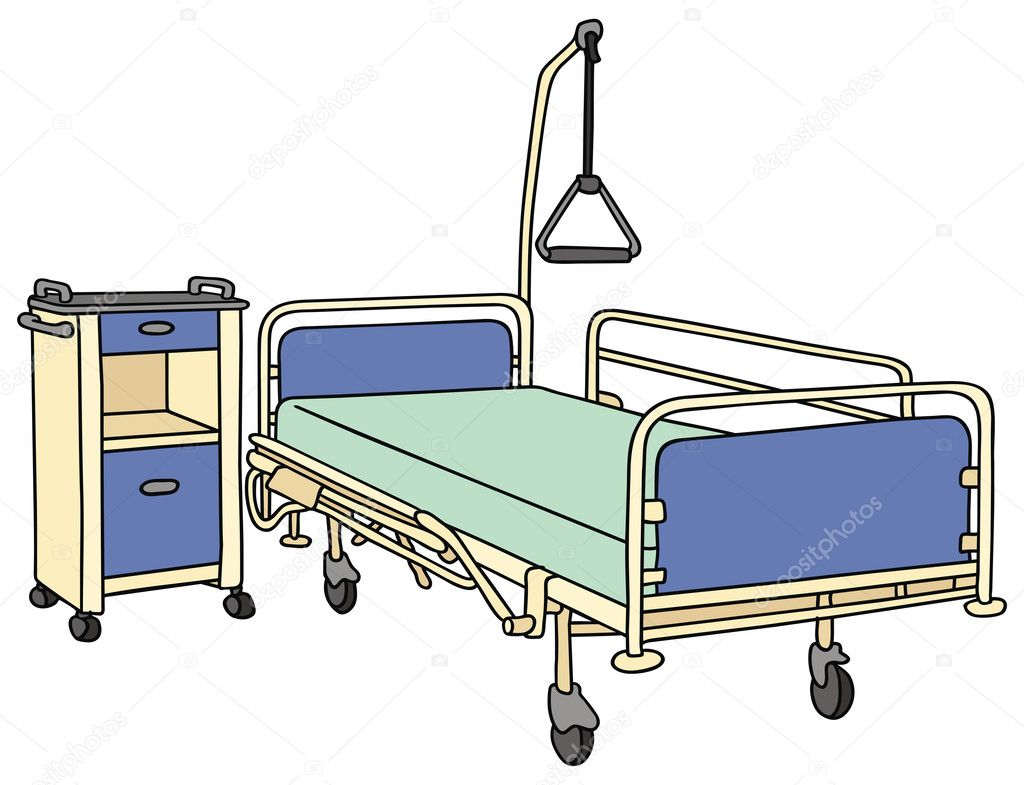 Hospital bed — Stock Vector © 2v #35477439