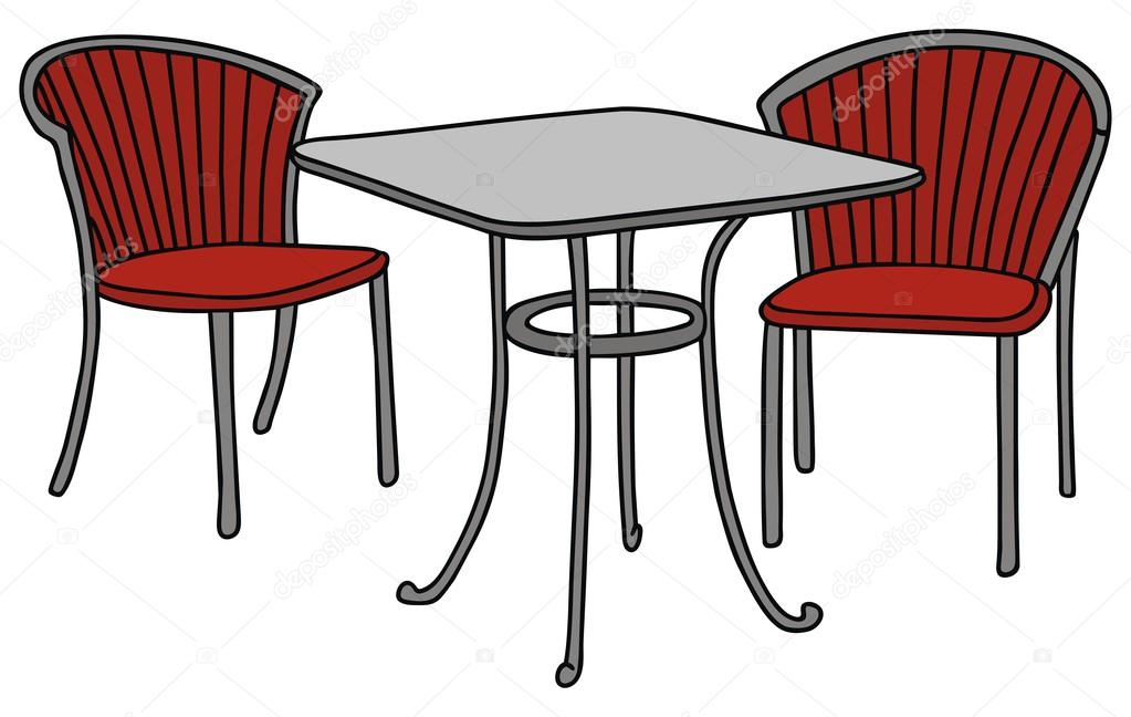 Beau Hand Drawing Of A Table And Chairs U2014 Vector By 2v