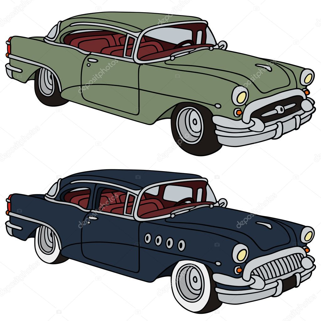 Classic american cars — Stock Vector © 2v #40845219