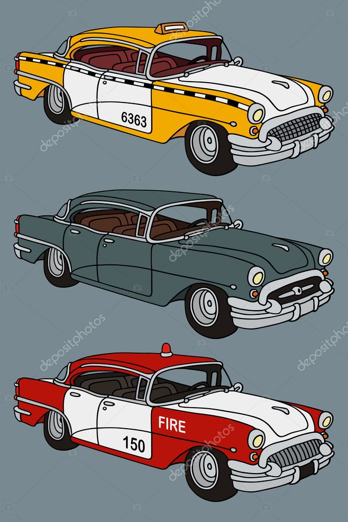 Classic american cars — Stock Vector © 2v #40845769