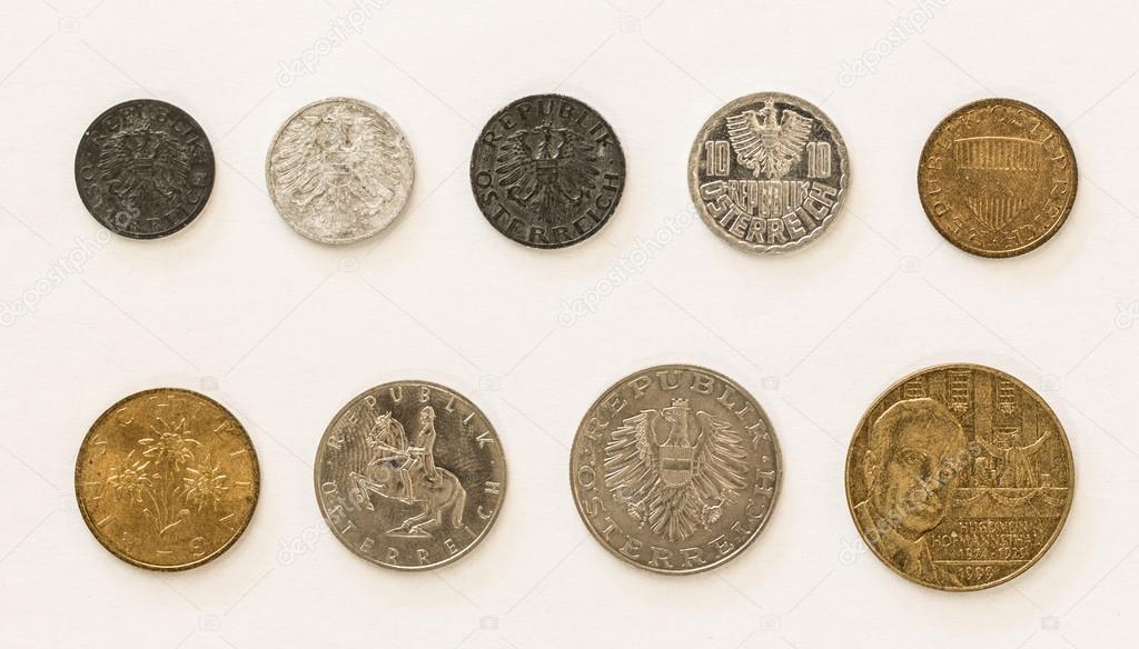 Alte österreichische Münzen 1 2 5 10 50 Groschen Und 1 5 10 20