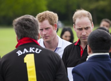 Berkshire, United Kingdom - May 11, 2014: HRH Prince William and Harry