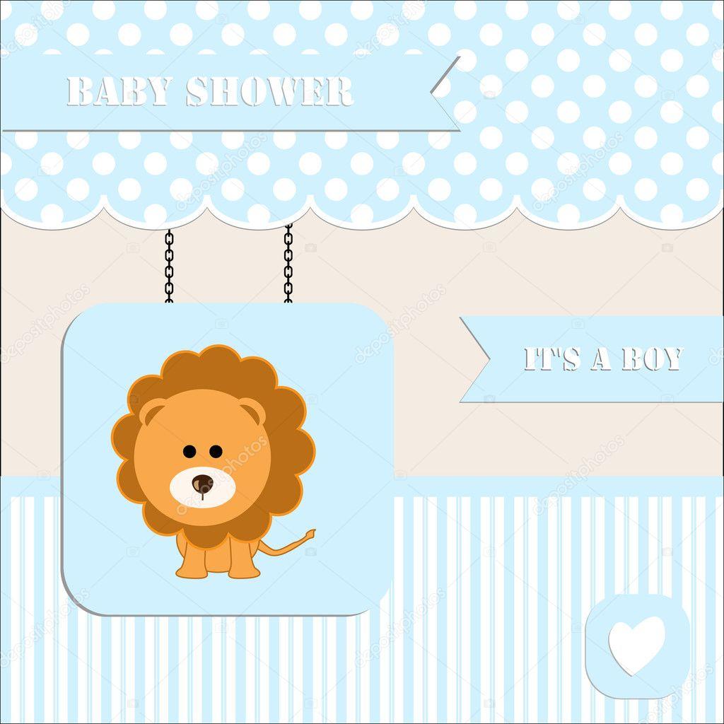 Baby shower invitation, for baby boy polka dot and stripe background ...