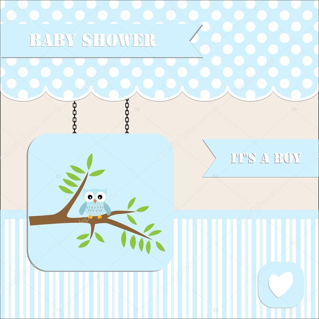 Baby Shower Stock Images ~ Baby shower invitation for boy polka dot and stripe