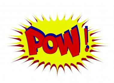 POW Comic book explosion comic sound effect