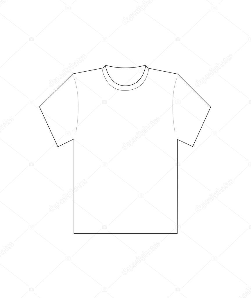 Men White T Shirt Template Stock Vector Nipitphand 38297497