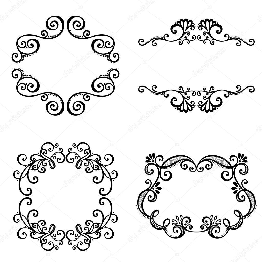 marco decorativo ornamental para texto — Vector de stock ...