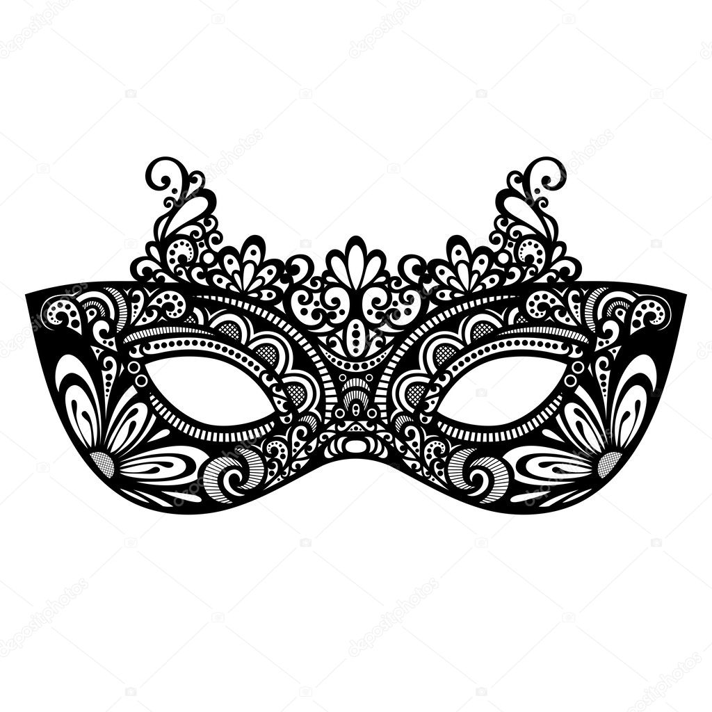 Beautiful Masquerade Mask (Vector) — Stock Vector