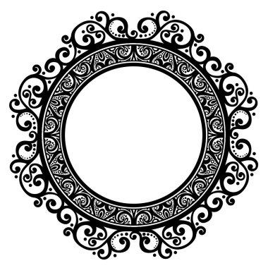 Beautiful Decorative Round Frame (Vector)