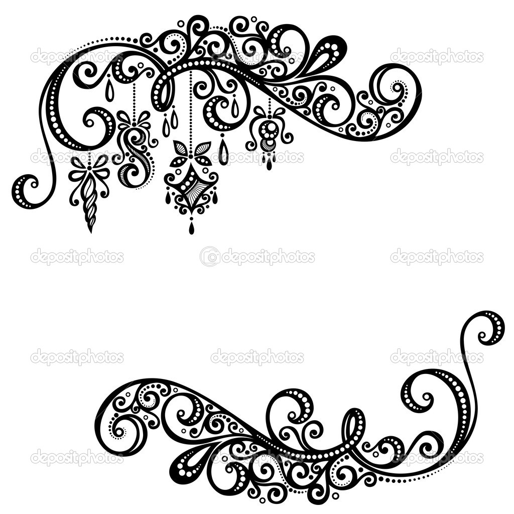 Beautiful Holiday Frame with Christmas Decorations (Vector) — Stock ...
