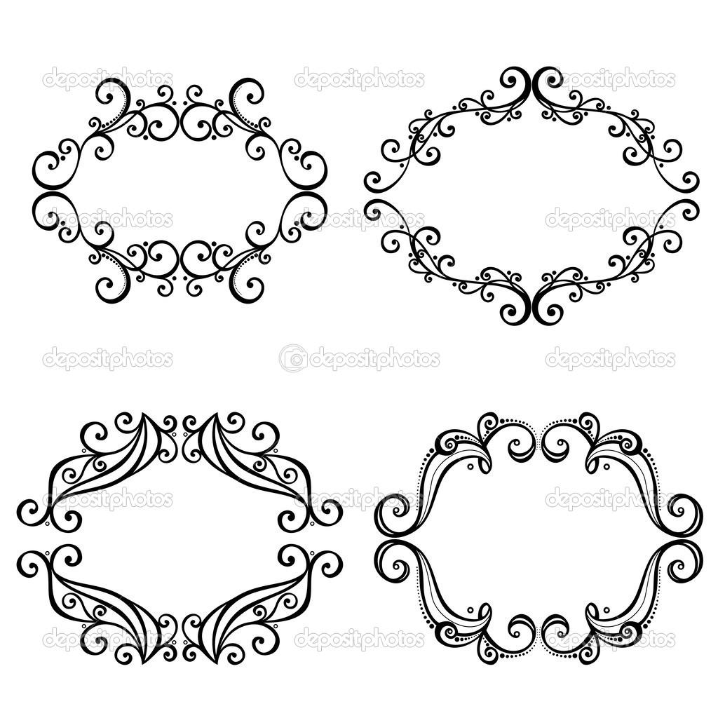 marco ornamental decorativo vector para texto — Archivo Imágenes ...