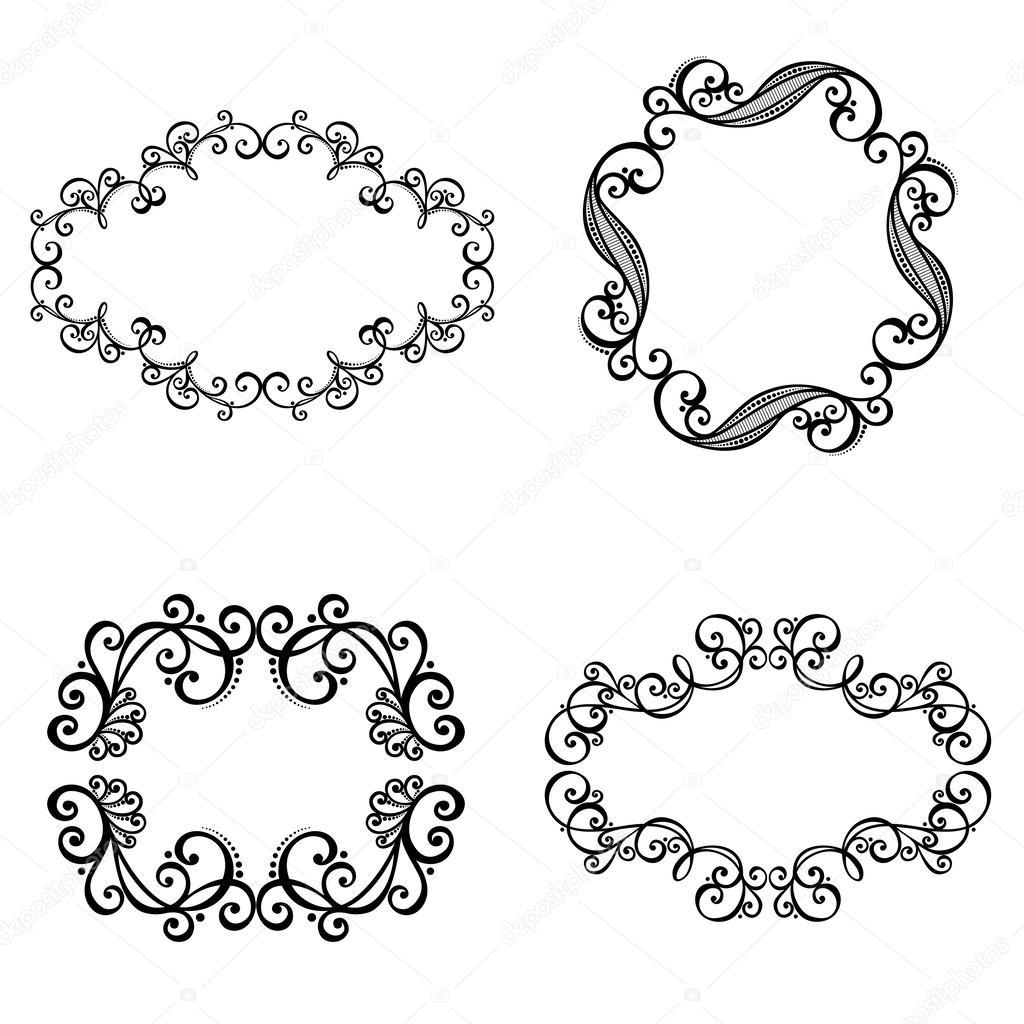marco ornamental decorativo vector para texto — Vector de stock ...