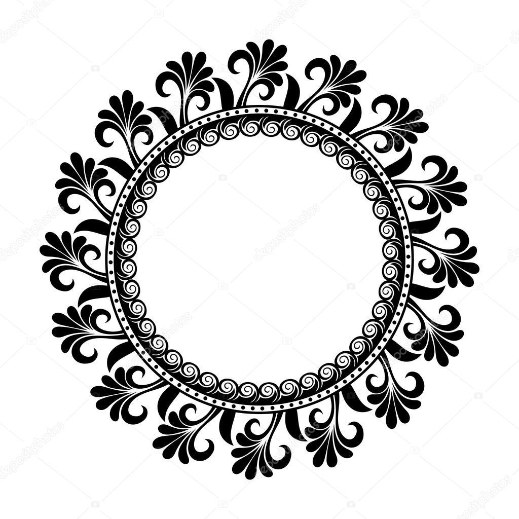 beautiful deco floral circle vector stock vector krivoruchko rh depositphotos com circle vector free images circle vector file