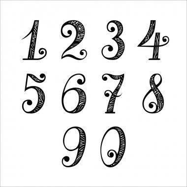 Set of Vintage Numbers